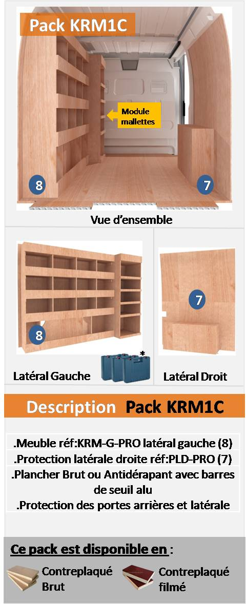 PACK KRM1C FOURGON COMPACT L2H1