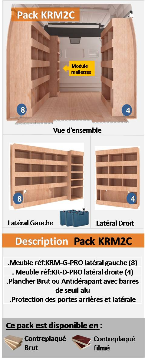 PACK KRM2C FOURGON COMPACT L2H2